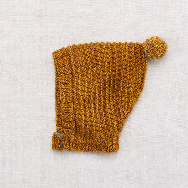 Hand Knit Merino Wool Tree Ring Hat - Spun Gold - 0-8y
