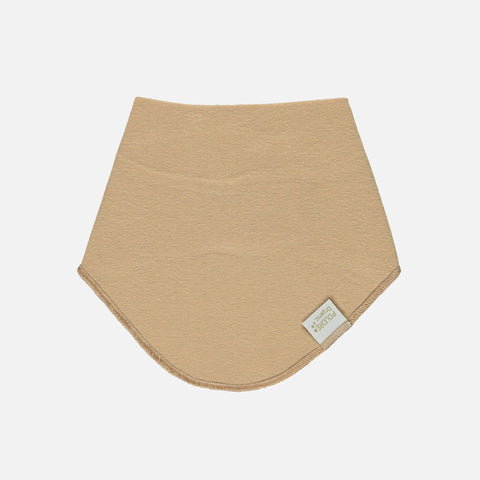 Organic Ribbed Jersey Baby Bandana Scarf - Indian Tan