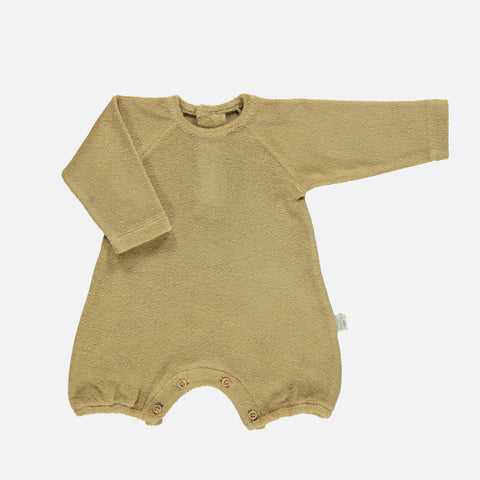 Organic Cotton Terry Genevrier LS Romper - Starfish