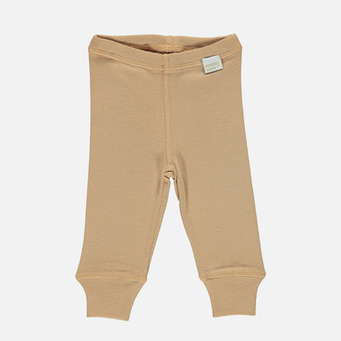 Organic Cotton Basilic Leggings - Indian Tan
