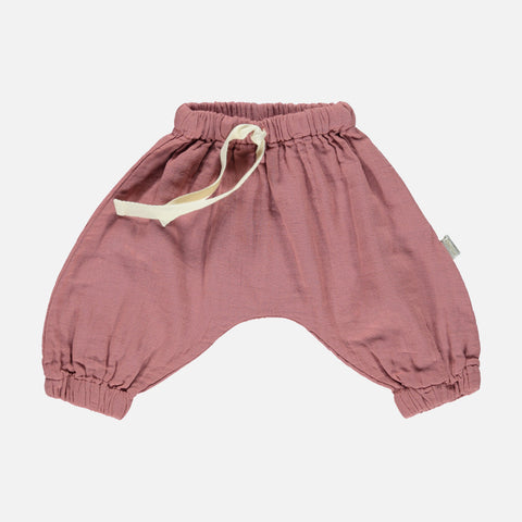 Organic Muslin Cannelle Baggy Pants - Light Mahogany