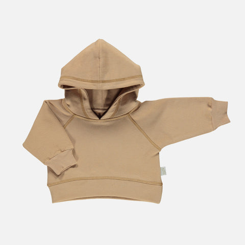 Organic Cotton Citron Heavy Jersey Hooded Sweatshirt - Indian Tan