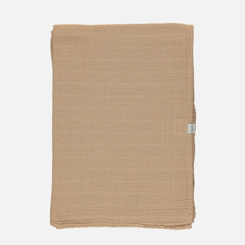 Organic Cotton Large Muslin Swaddle - Indian Tan
