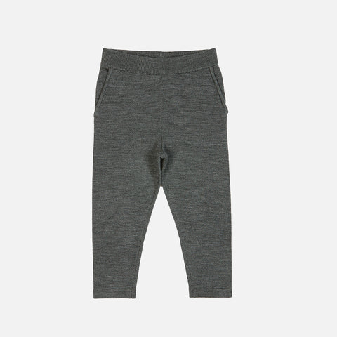Merino Fine Knit Kids Pants - Gray - 2-8y A