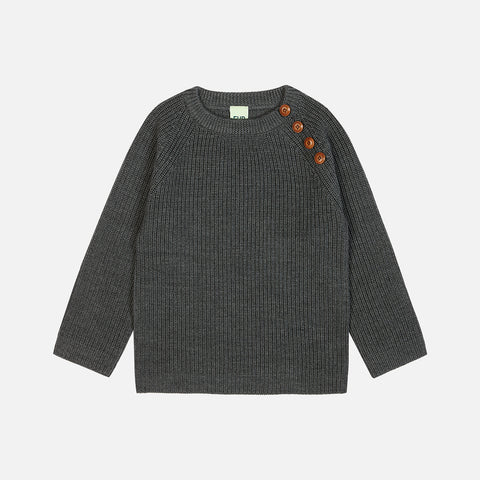 Merino Chunky Sweater - Grey - 2-12y