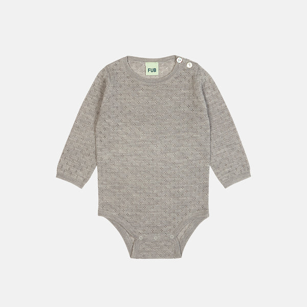 d69d47af3a22 Merino Baby Pointelle Body - Light Grey - 0-2y – MamaOwl