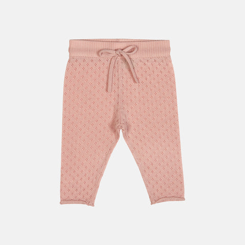 Merino Baby Straight Pants - Rose - 0-2y