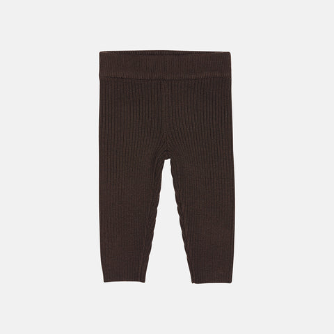 Merino Baby Leggings - Brown - 3-18m