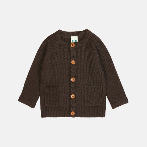 Chunky Merino Baby Jacket - Brown - 3-18m