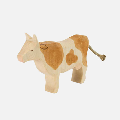 Handcrafted Brown & White Standing Cow