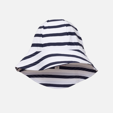 Freya UV Protection Sun Hat - White/Blue Stripe - 0-8y