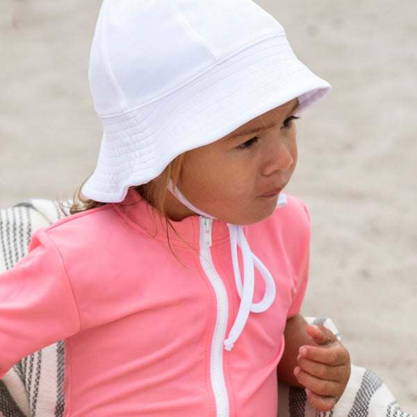 Freya UV Protection Sun Hat - White - 0-8y