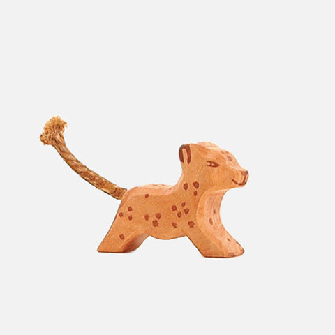 Handcrafted Small Running Leopard