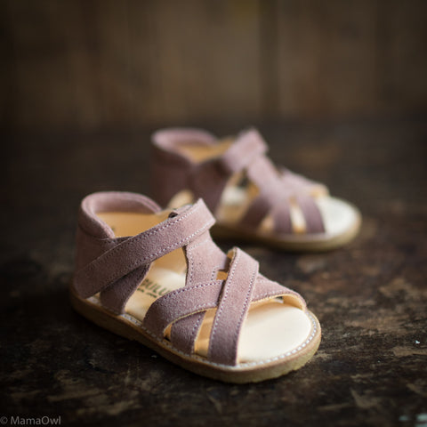 Open Toe Toddler Sandal - Powder Suede