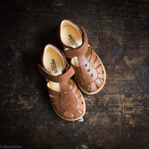 Kids Heart Sandal - Tan