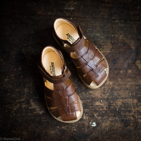 Fisherman Kids Sandal - Brown