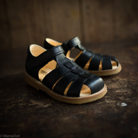 Fisherman Kids Sandal - Black
