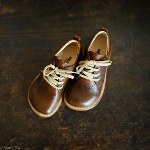 MamaOwl Lace Shoe - Brown- 26 (UK8.5) - 35 (UK2.5)