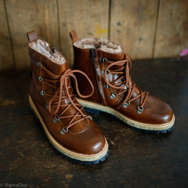 Women's Waterproof Boots w/ Zip - Brown - 37(UK 5) - 38
