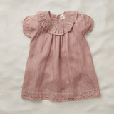 Exclusive Linen Mirel Dress - Moroccan Rose - 2-7y