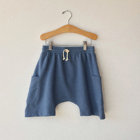 Cotton Basketball Shorts - Cornflower - 2-10y