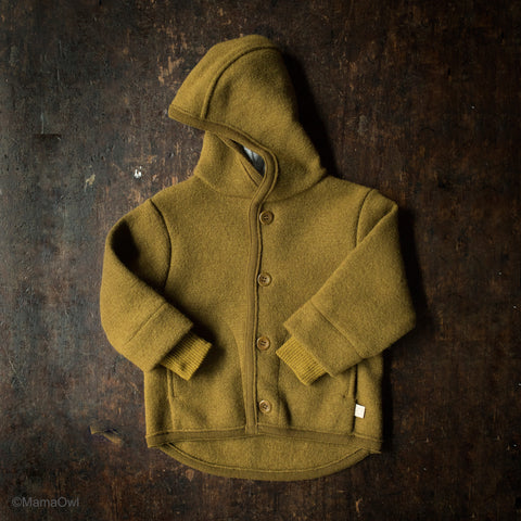 Organic Boiled Merino Wool Jacket - Gold