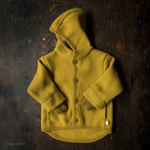 Organic Boiled Merino Wool Jacket - Curry