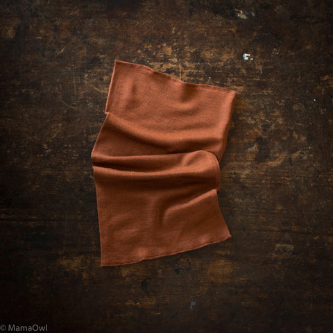 Exclusive Kids Silk & Merino Snood - Deep Rust