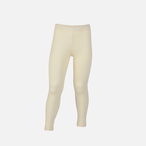Organic Silk & Merino Kids Leggings - Natural