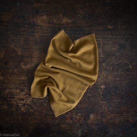 Exclusive Kids Silk & Merino Snood - Deep Ochre