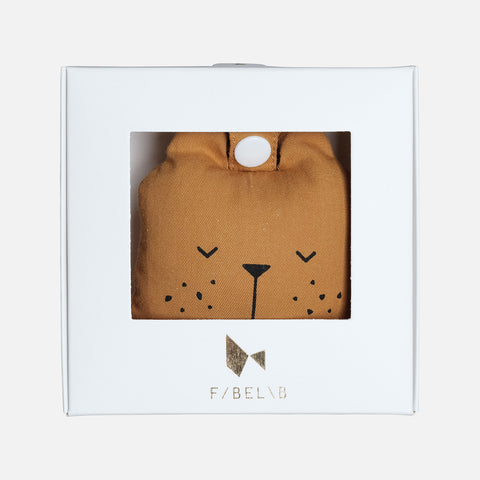 Organic Cotton Rattle - Ochre Bear