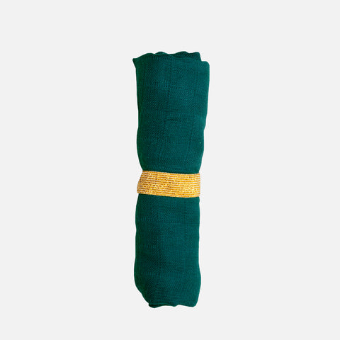 Organic Cotton muslin - Evergreen