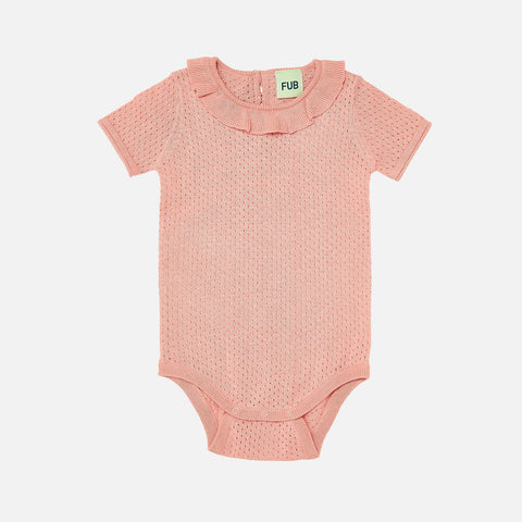 8b5df24f3f Sold out Organic Cotton Baby Pointelle Romper - Blush - 0-2y ...