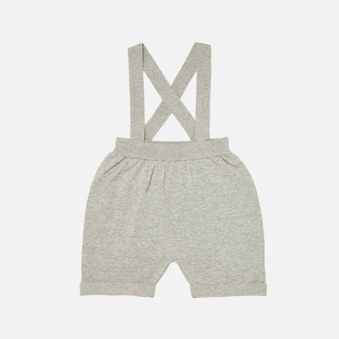 Organic Cotton Baby Shorts - Light Grey - 0-9m