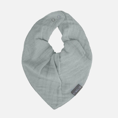 Organic Cotton Muslin/Terry Bandana Bib - Foggy Blue