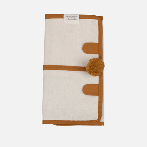 Organic Cotton Roll Up Pencil Case - Bear