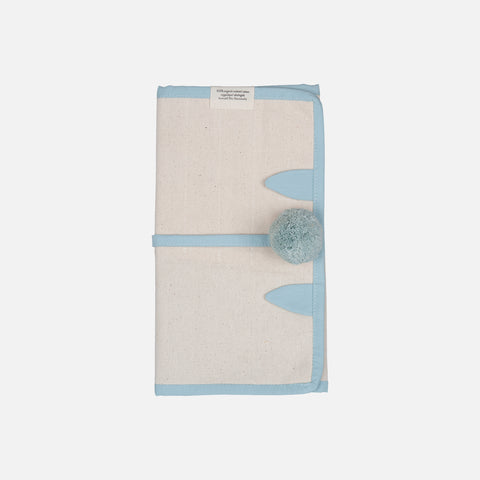 Organic Cotton Roll Up Pencil Case - Cat