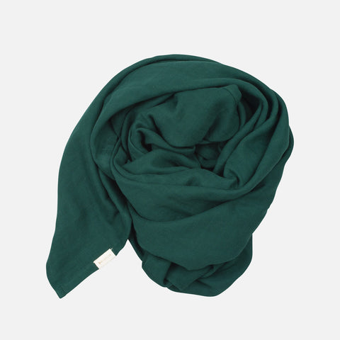 Organic Cotton Swaddle - Evergreen