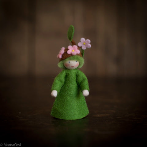 Handmade Wool Flower Fairy - Blooming Branch Boy
