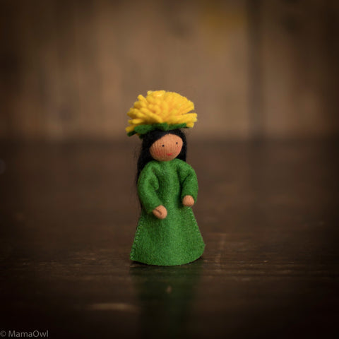 Handmade Small Wool Flower Fairy - Dandelion