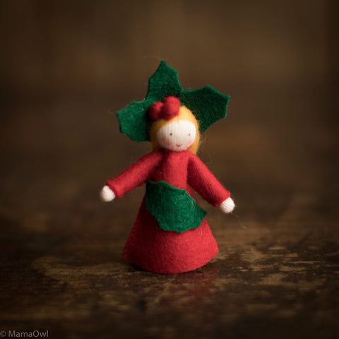 Handmade Small Wool Fairy - Holly