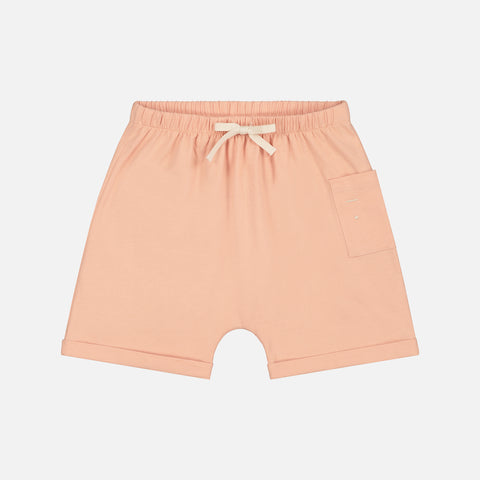 Organic Cotton One Pocket Shorts - Pop - 12m-10y