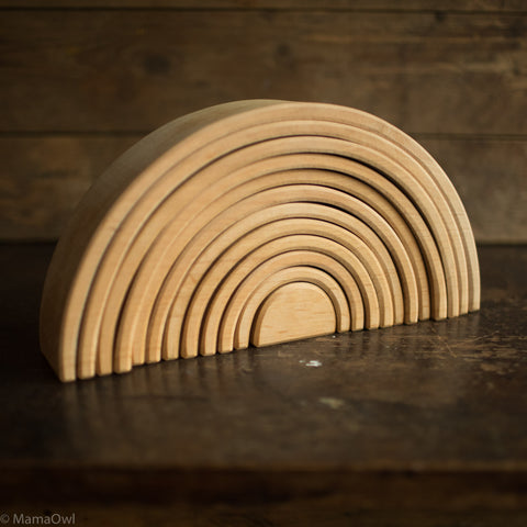 12 Piece Wooden Rainbow - Natural