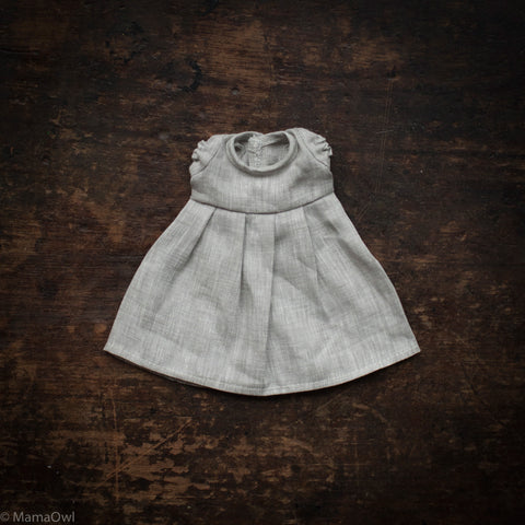 Linen Dolls Dress - Grey