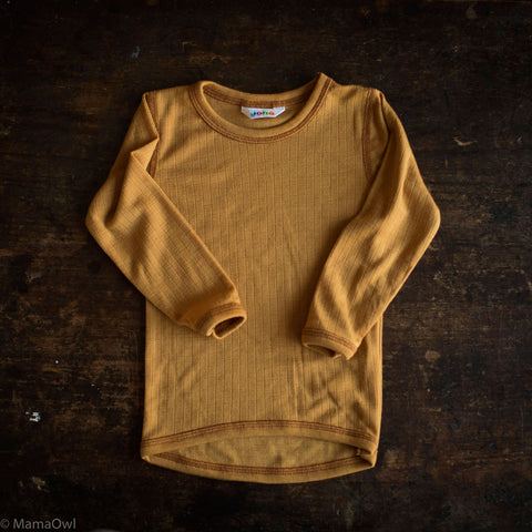 Exclusive Merino LS Top - Ochre - 1-12y