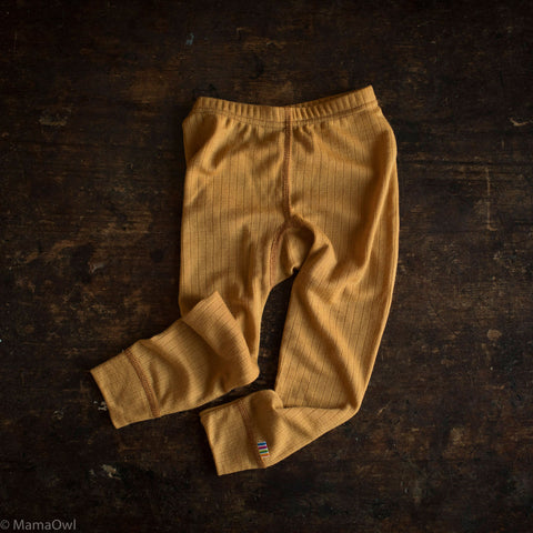 Exclusive Merino Leggings - Ochre - 1-12y