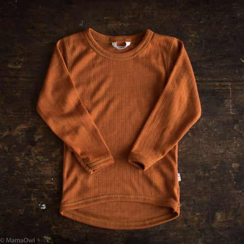 0db4cf9d58356a Sold out Exclusive Merino LS Top - Rust - 1-12y ...