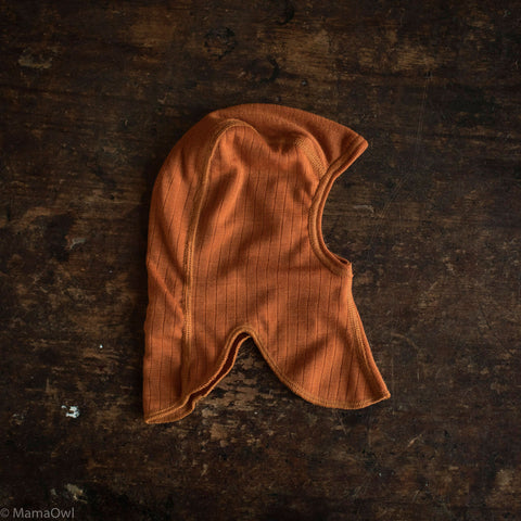Exclusive Merino Wool Balaclava - Rust - 4m-10y