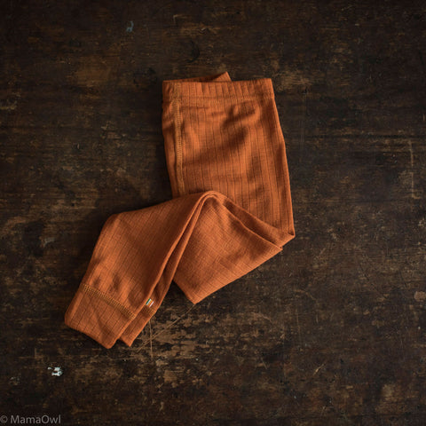 Exclusive Merino Leggings - Rust - 1-12y
