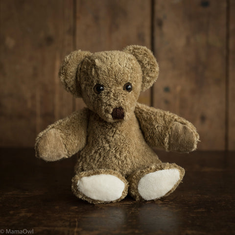 Small Organic Cotton & Wool Bear - Sand